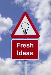 Road sign photo attention Fresh Ideas ahead